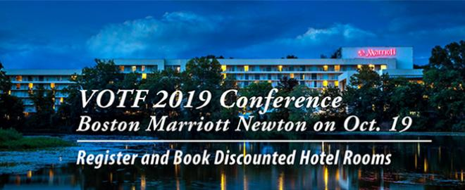 Register and Book Hotel Rooms for VOTF 2019 Conference